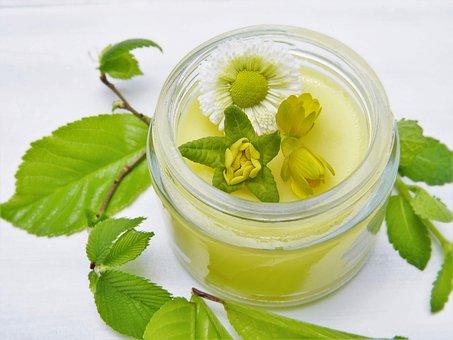 Flowers, Cream, Glass, Green, Spring