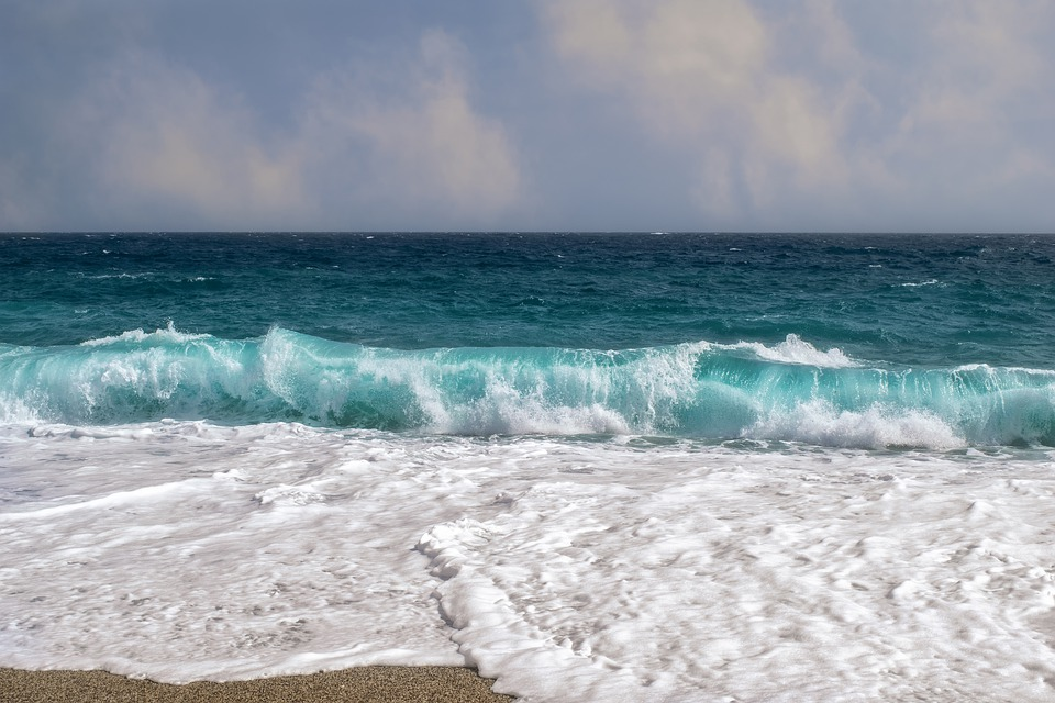 Panorama, Mare, Beach, Onda, Blu, Schiuma, Sabbia, Sky