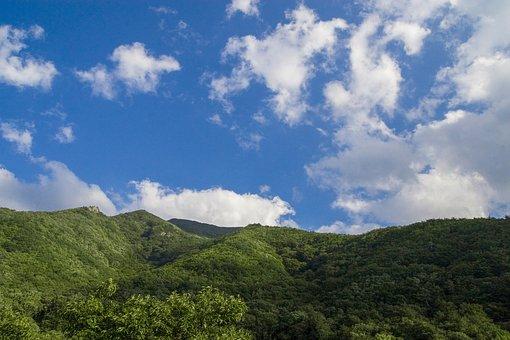 秘密の日差し, ムギの量, Sky, 空, に散在の雲, Cloud, 自然