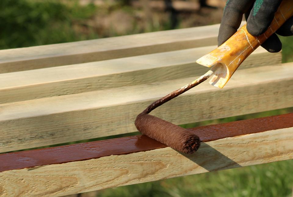 ペイント, 木材, 仕事, ローラー, 修理, 表面, 塗料, ツール