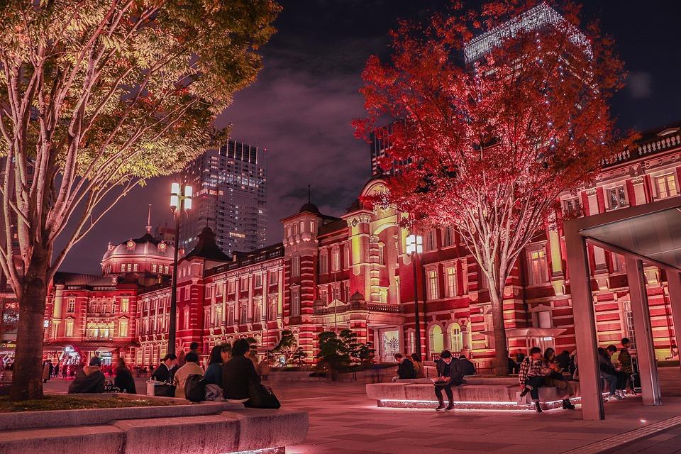 東京駅, 丸の内, 駅前, 夜景, レンガ造り, Tokyo Station, Marunouchi