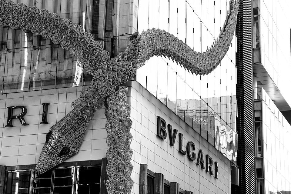 東京, 日本橋, ブルガリ, ビル, 建物, ブティック, 蛇, ヘビ, オブジェ, 装飾, Tokyo