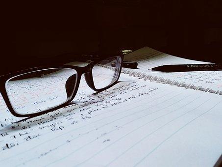 Estudo, lição de casa, ficar em casa, escrever