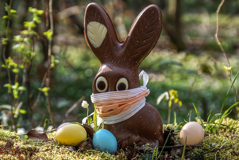 Pasen, 2020, Corona, Paashaas, Chocolade, Easter Eggs