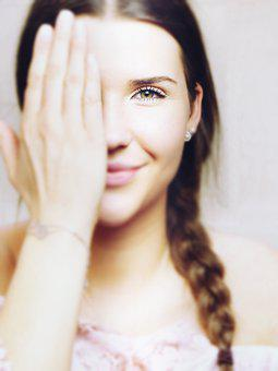 Face, Hand, Eyes, Smile, Girl, Woman