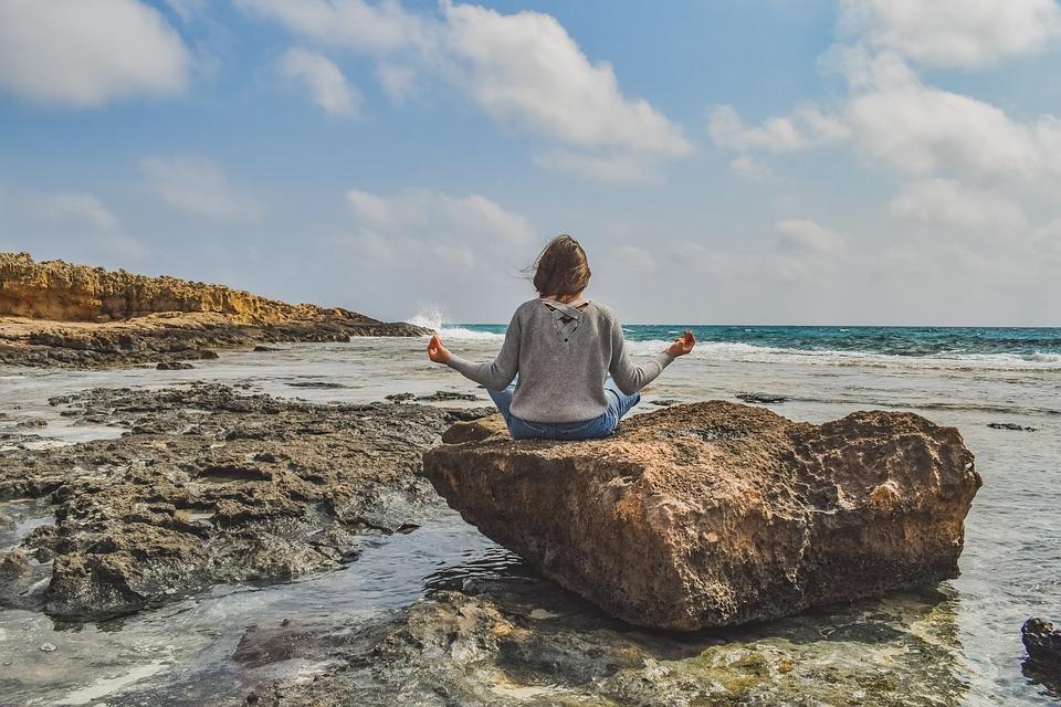 Děvče, Meditace, Příroda, Jóga, Relaxace, Žena