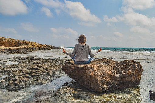 Girl, Meditation, Nature, Yoga