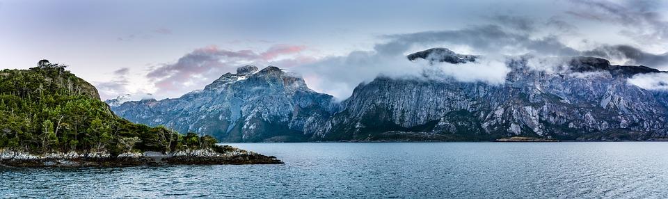 Patagonia, Chile, Sunrise, Beauty, Panorama, Mountains