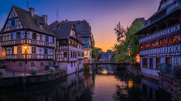 Strasbourg, Houses, Alsace, City, France