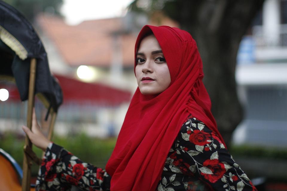 Kecantikan, Jilbab, Islam, Potret, Mode, Gadis, Wanita