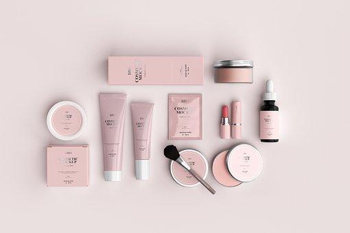 美しさ, 化粧品, 製品, 化粧, 顔, 皮膚, 女性, スキンケア