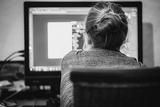 ホーム オフィス, 人, 仕事, Web デザイン, ビジネス
