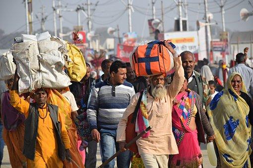 Cuộc Di Cư Hàng Loạt, Ấn Độ, Đi Bộ
