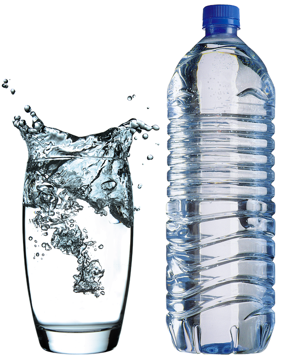 Glass, Water bottle