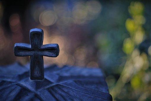 Cross, Grave Light, Cemetery
