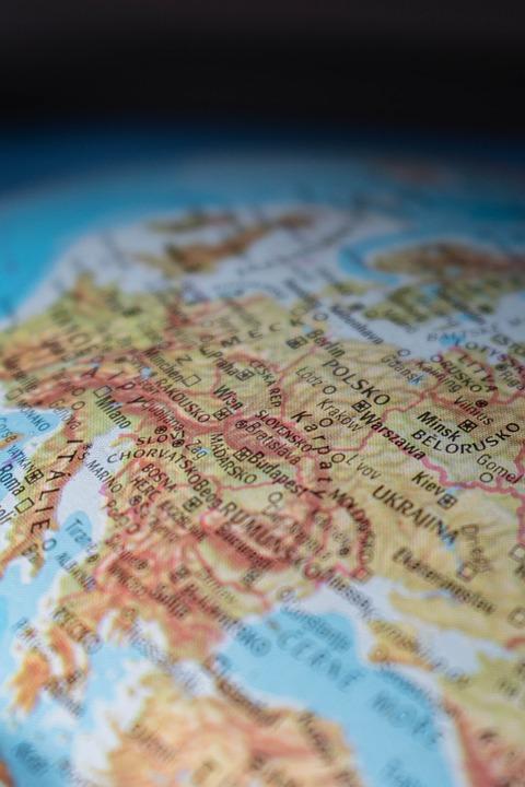 Globus Centralna Evropa Karta Bezplatni Fotografii Na Pixabay