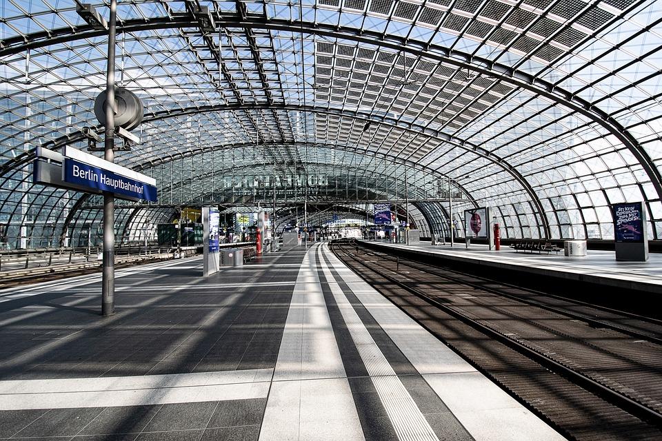 ベルリン, 中央駅, ベルリン中央駅, 鉄道駅, 放棄された, 空, コロナ, Coronavirus, 鉄道
