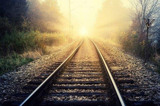 希望, 日光, レール, 旅行, ルート, ターゲット, 地獄, 霧, ヘイズ