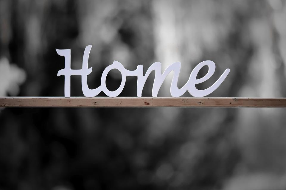在宅, ホーム, 家に, レタリング, 文字, 装飾, デコ, 手紙