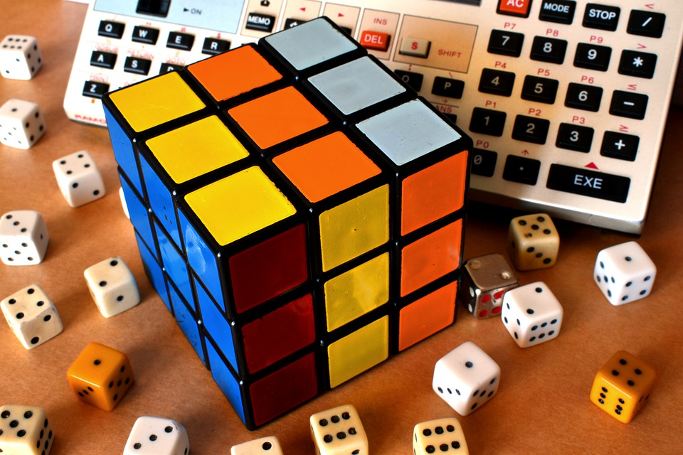 ルービック キューブ, キューブ, ルービック, サイコロ, パソコン, 運, 心, パズル, 色, ロジック