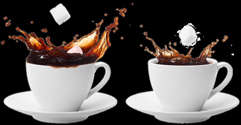 Tazza Di Caffè, Zucchero, Coppa, Piattino