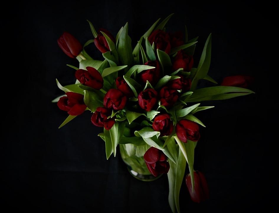 Karangan Bunga Tulip Vas Foto Gratis Di Pixabay