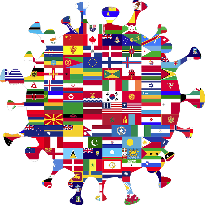 Coronavirus, Globe, Flags, World, Nations, Disease