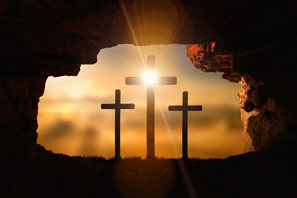 Воскресение, Кресты, Распятие, Пасха, Иисус, Пещера