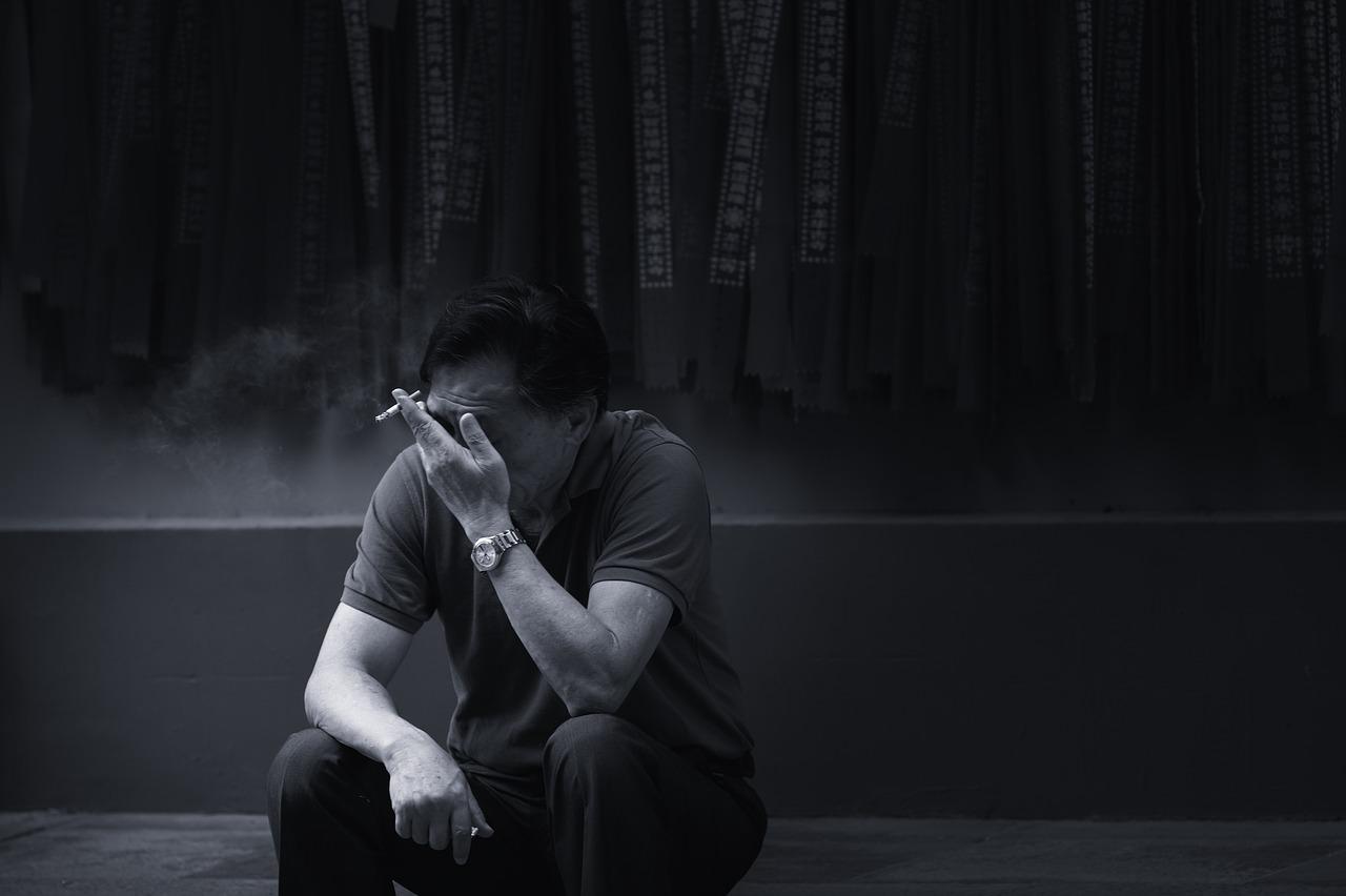Sad Man Smoking - Free photo on Pixabay