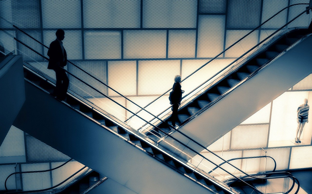 Escalator, Centre Commercial, Londres, Grand Magasin