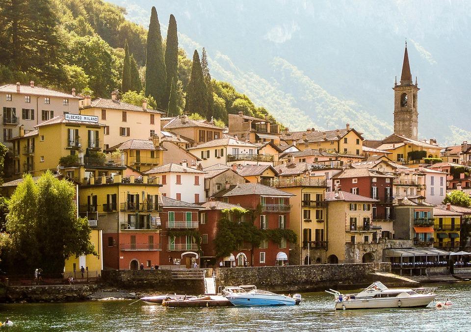 Italy, Varenna, Lake Como, City
