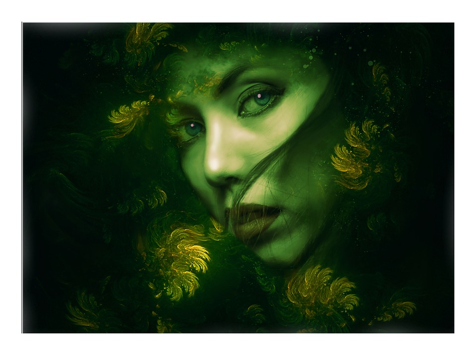 Goddess, Forest Goddess, Fantasy, Gothic, Dark