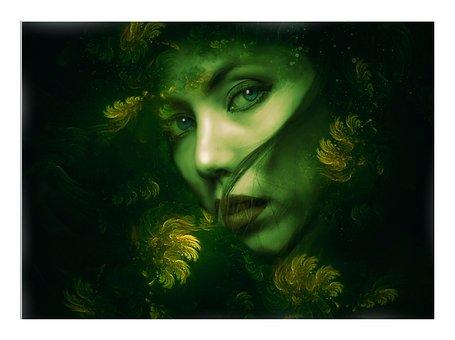 Goddess, Forest Goddess, Fantasy, Gothic