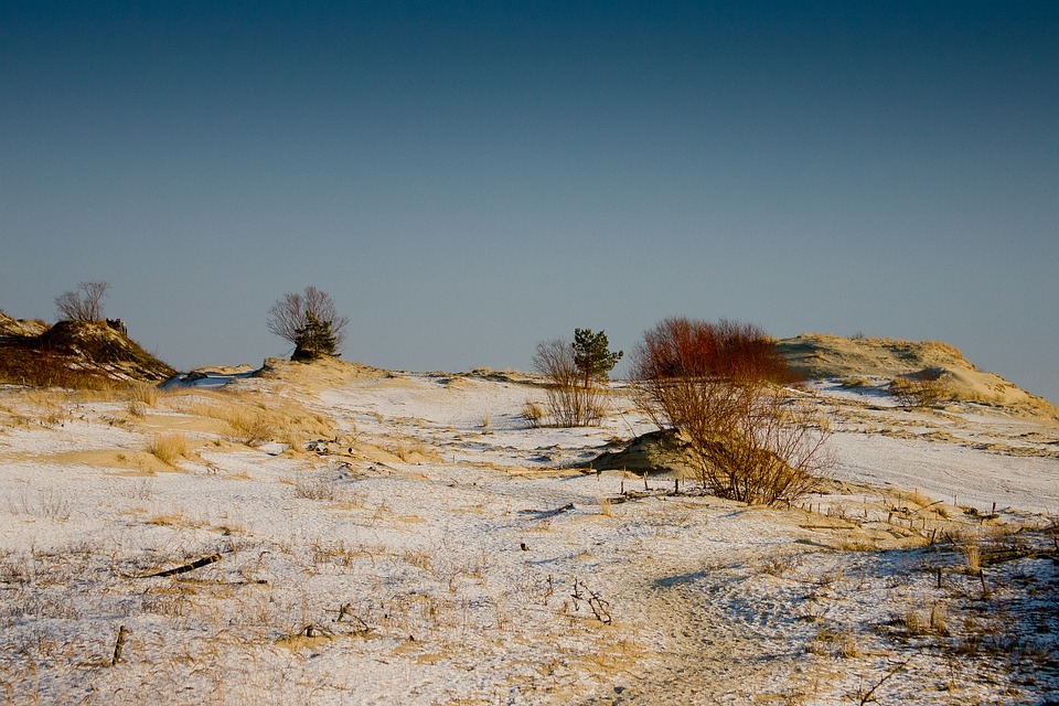 The Curonian Spit, Height Efa, Baltika, Winter, Snow