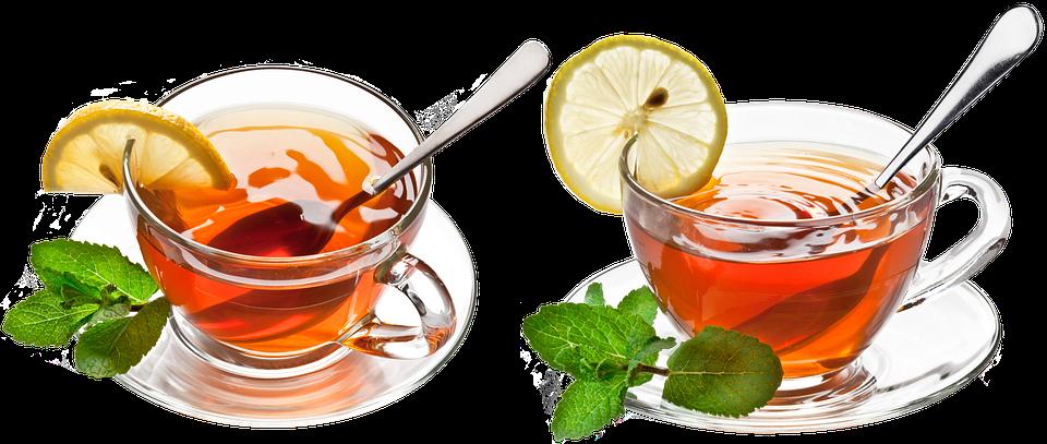 Cup And Saucer, Spoon, Cup, Tea, Lobule, Lemon, Mint
