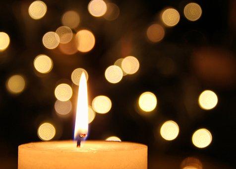 Kerze, Bokeh, Stimmung, Kerzenlicht