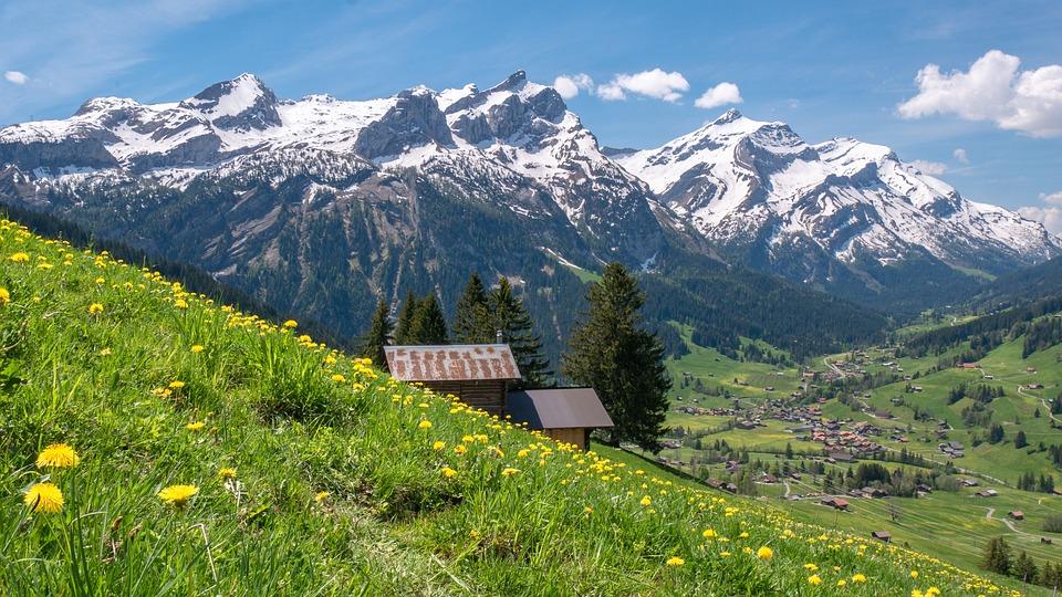 Bernese Oberland, Switzerland, Mountains, Alpine