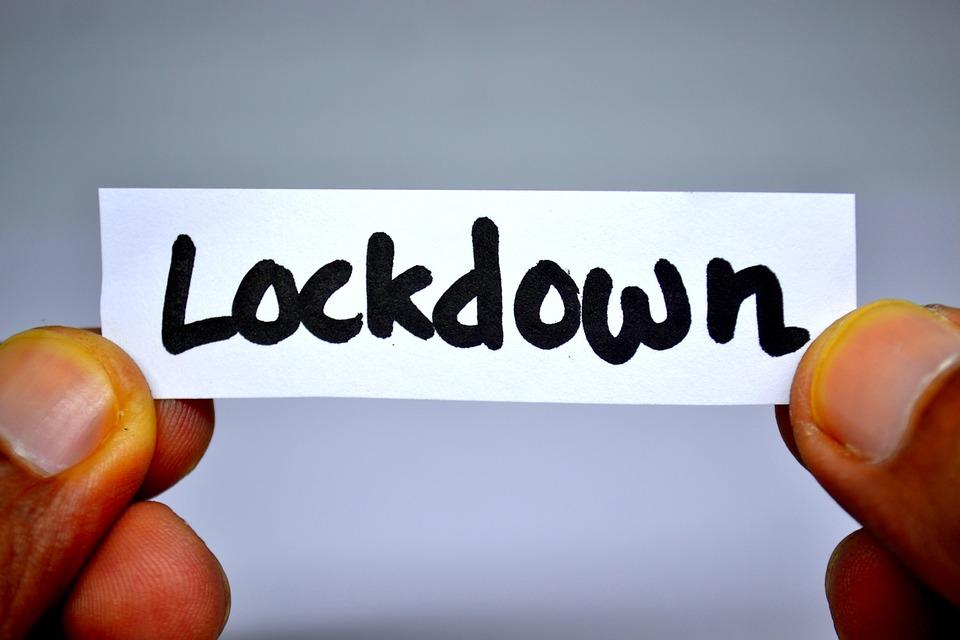 Quarantäne,, Soziale Distanz, Lockdown, Isolierung