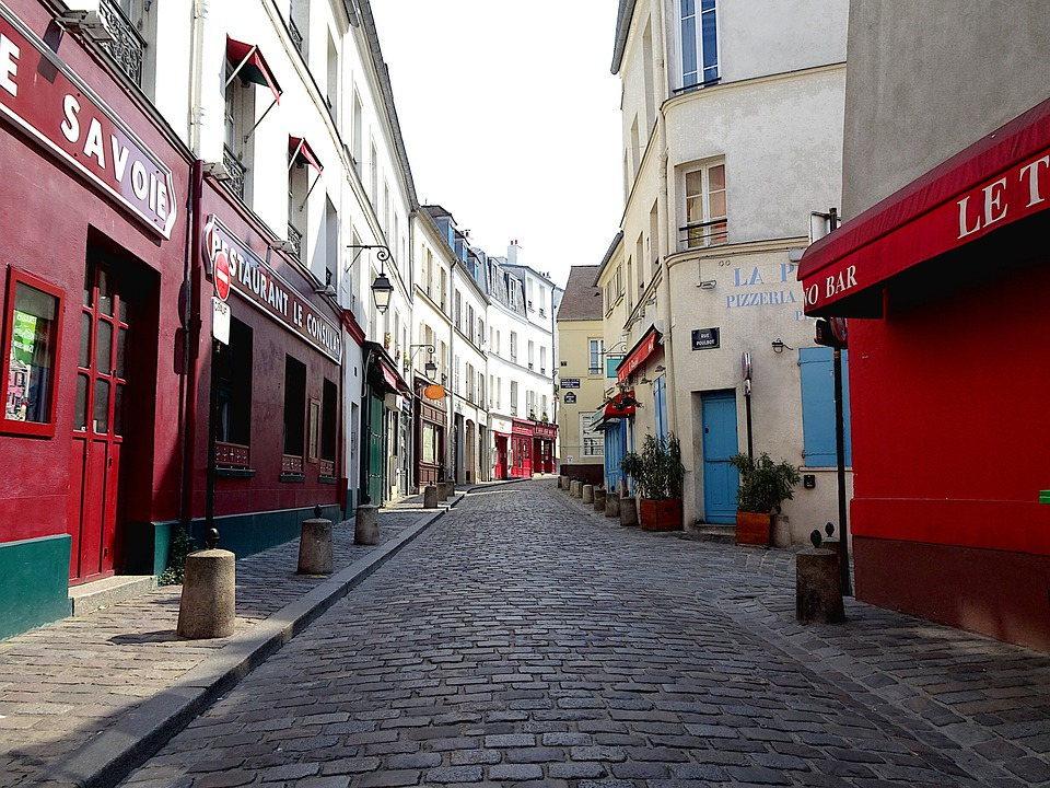 Street, Montmartre, Paris, Sacred Heart, France