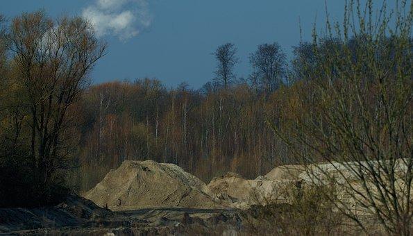 Kieswerk, Sand, Forest, Trees, Removal