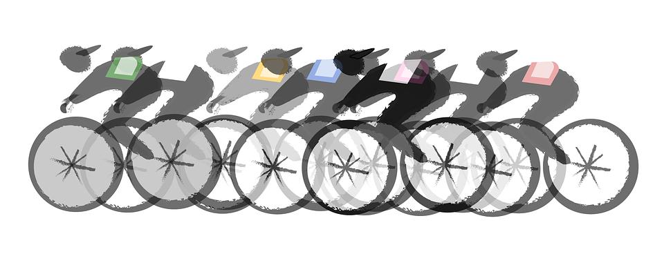 Radfahren, Fahrrad, Sport, Radfahrer, Rennen, Endspurt