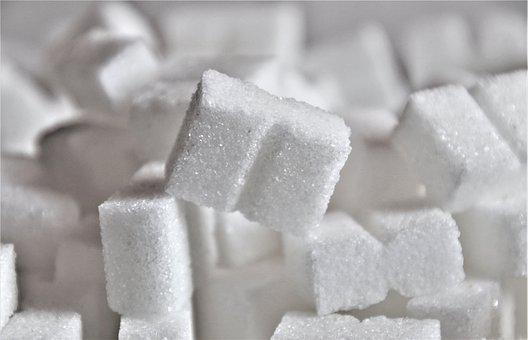 White, Sweet, Calories, Sugar In Pieces