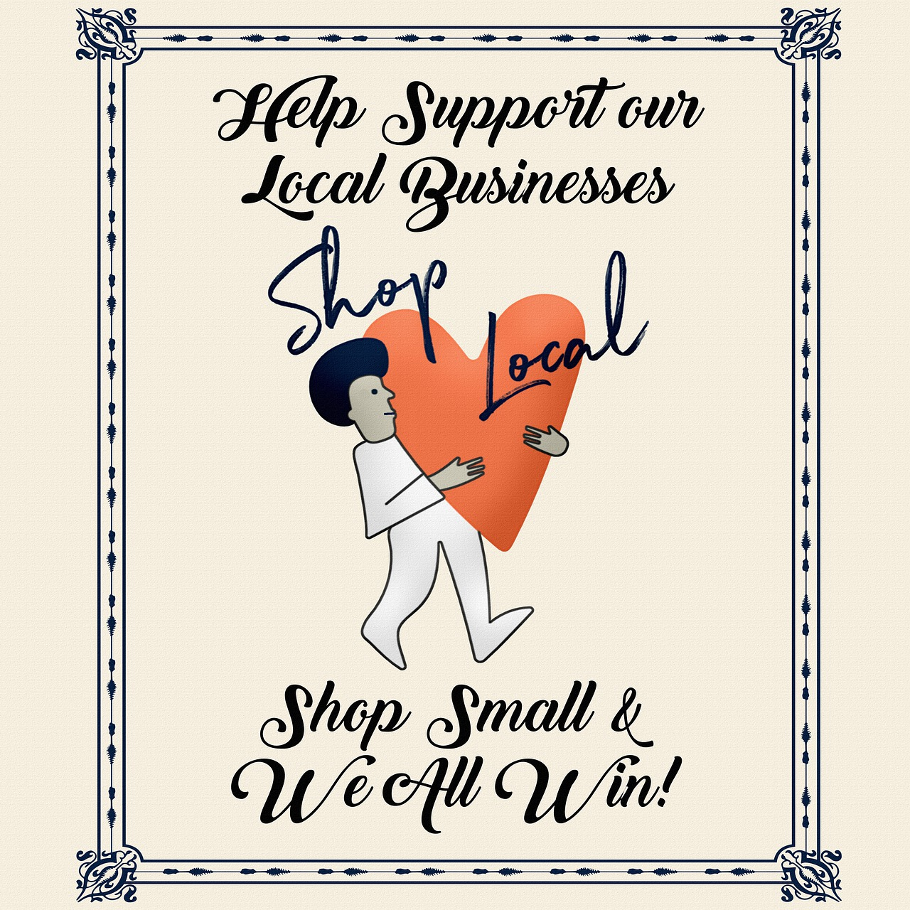 Poster Support Local Business - Free image on Pixabay