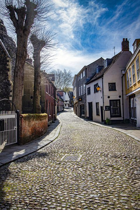 Elm Hill, Tourism, Tudor, Deserted, Lockdown, Empty