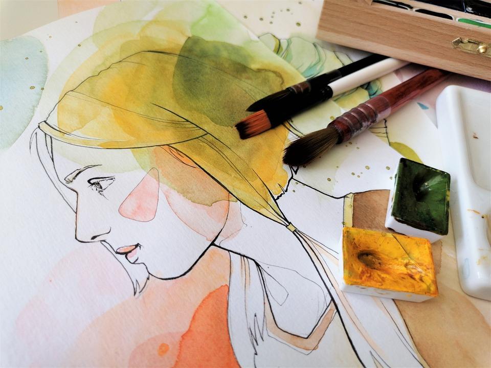 Acuarelă, Portret, Pictura, Arta, Hârtie