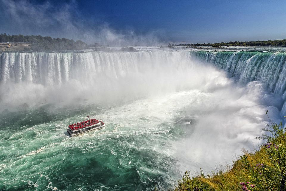 Waterfall, Boat, Niagara Falls, Canada, Water