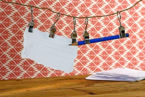 Notizen, Zettel, Schreiben, Büro
