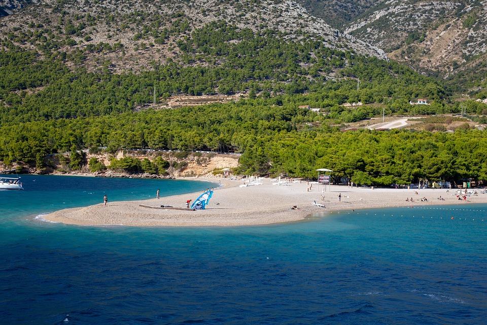Golden Horn, Horvátország, Island, Brac, Beach, Tenger