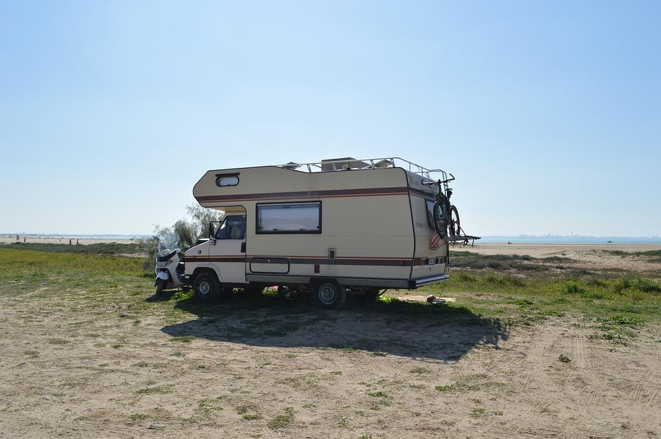 Machine, Camper, Trailer, Op Reis Gaat, Strand, Camping