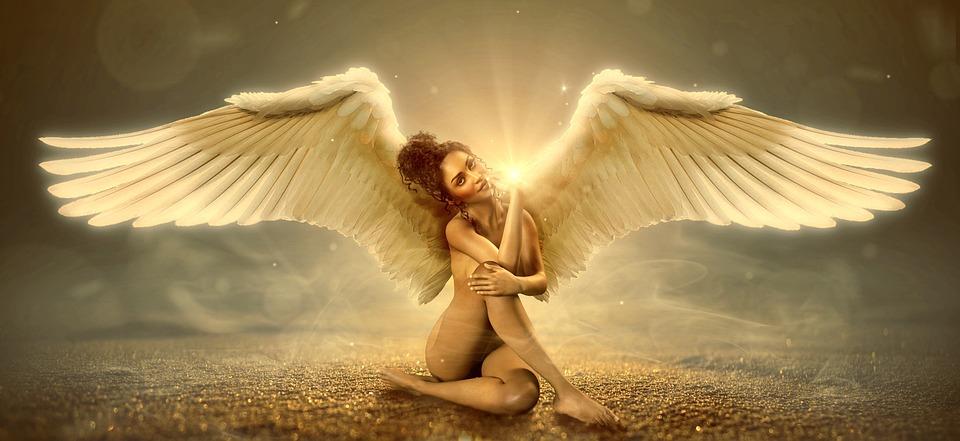 แฟนตาซี, นางฟ้า, ปีก, เทวดาผู้พิทักษ์, อารมณ์, แสงสว่าง